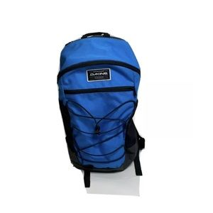 Dakine blue and black backpack